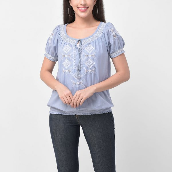 Women Regular Embroidered Top