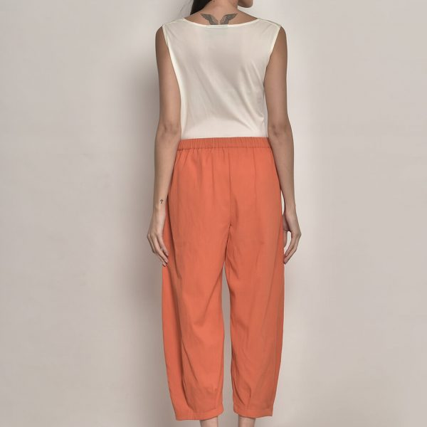 Women Solid Basic Trousers – Orange